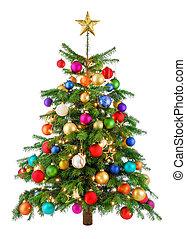 Joyful colorful Weihnachtsbaum.