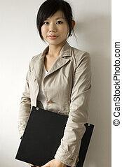Junge asiatische Bildung / Geschäftsfrau