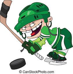 junge, hockey