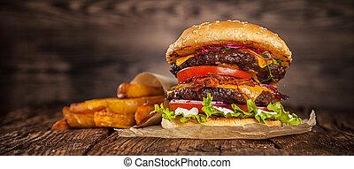 kã¤se, daheim, hamburger, kopfsalat, gemacht