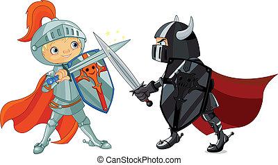Kämpferische Ritter