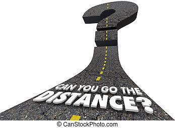 Können Sie die Entfernung Frage Straße 3d Abbildung.