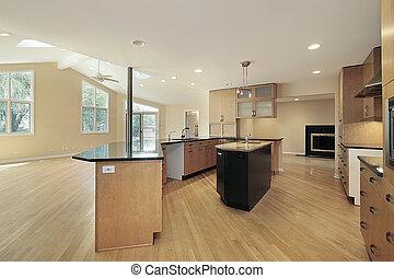 Küche in renoviertem Heim