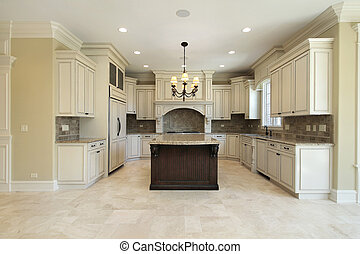 Küche mit Granitinsel