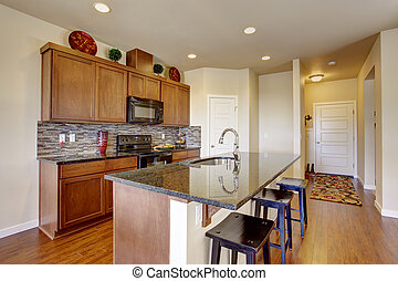 Küchenraum mit Insel