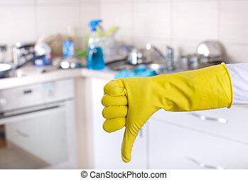 Küchenreinigungskonzept