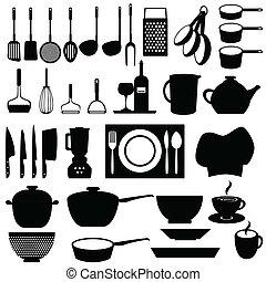 Küchenutensilien und Werkzeuge