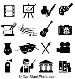 künste, satz, geldstrafe, ikone