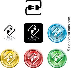 Kabelkabel-Icon-Symbol verbinden