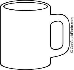 Kaffeetasse (weißer Becher)