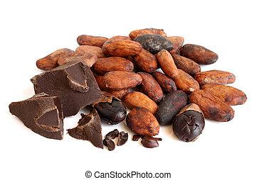 kakau, kakao, bohnen