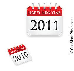 kalender, 2011, 2010, jahr
