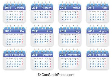 kalender, 2011, jahr
