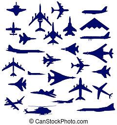 Kampfflugzeuge.