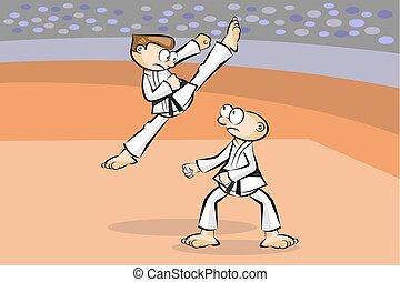 karate, kampf