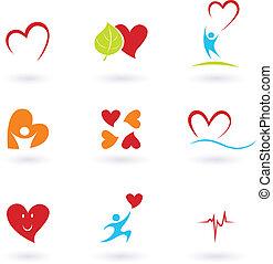 Kardiologie und Herz-Ikonen