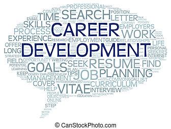 Karriereentwicklung in Wortmark Cloud