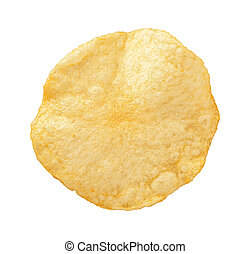 Kartoffelchips isoliert