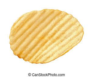 Kartoffelchips mit abgeschiedenen Kamm
