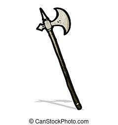Kartoon mittelalterliche Waffe.