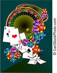 Kasinoelemente. Roulette. Schwarzer Bube. Vektor Illustration