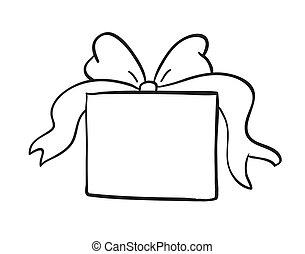 kasten, skizze, geschenk