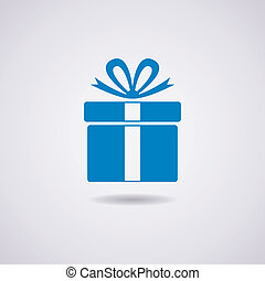 kasten, vektor, geschenk, ikone