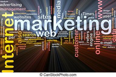 kasten, wort, paket, marketing, internet, wolke
