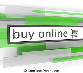 Kauf Online-Bar - Web-Shopping-Wagen
