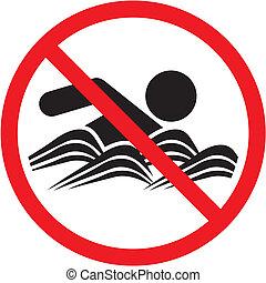 Kein Schwimmzeichen