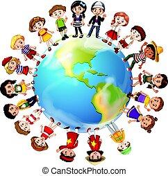 Kinder aus vielen Ländern der Welt.