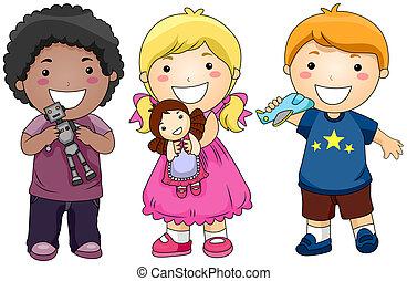 Kinder mit Spielzeug