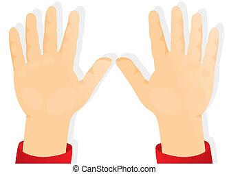 Kinderhände, Handflächen nach vorn