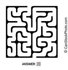 Kinderlabyrinth. Puzzlespiel für Kinder, vektorisches Labyrinth.