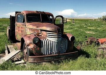 Klassischer Farmwagen