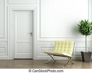 Klassisches weißes Innere