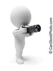 klein, fotograf, 3d, -, leute
