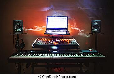 klein, studio, schalfzimmer