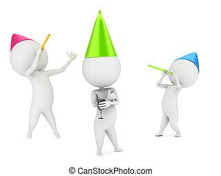 Kleine Jungs feiern