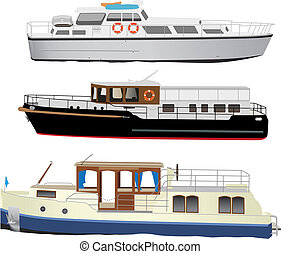 Kleine Touristenschiffe