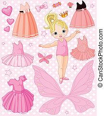 Kleines Mädchen mit anderen Kleidern