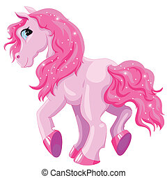 Kleines rosa Pony.
