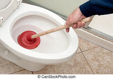 Klempner- und Toiletten