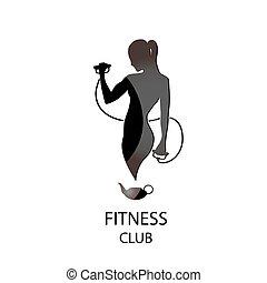 klub, fitness, schwarz, ikone
