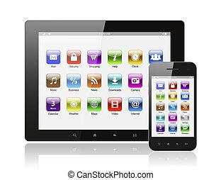 klug, heiligenbilder, tablette, hintergrund, telefon, pc, weißes
