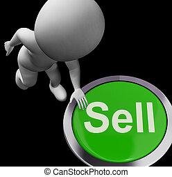 Knöpfe zu verkaufen, Verkauf und Geschäft