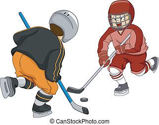 knaben, hockey, eis