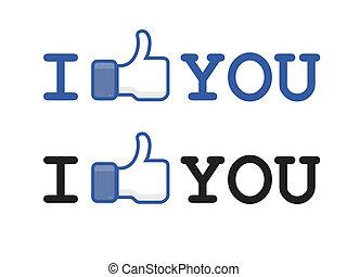 Knopf wie Facebook.
