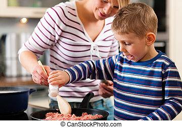 kochen, kueche , familie