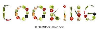 Kochwort aus Gemüse
